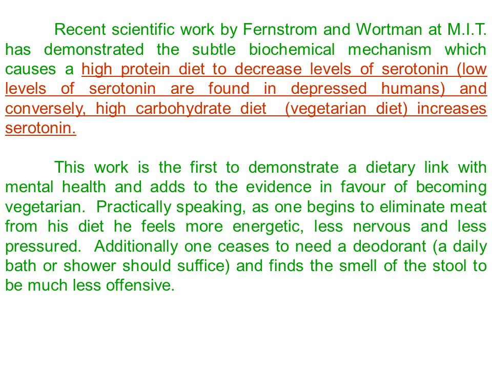 ECONOMICS AND PERSONAL HEALTH OF VEGETARIANISM