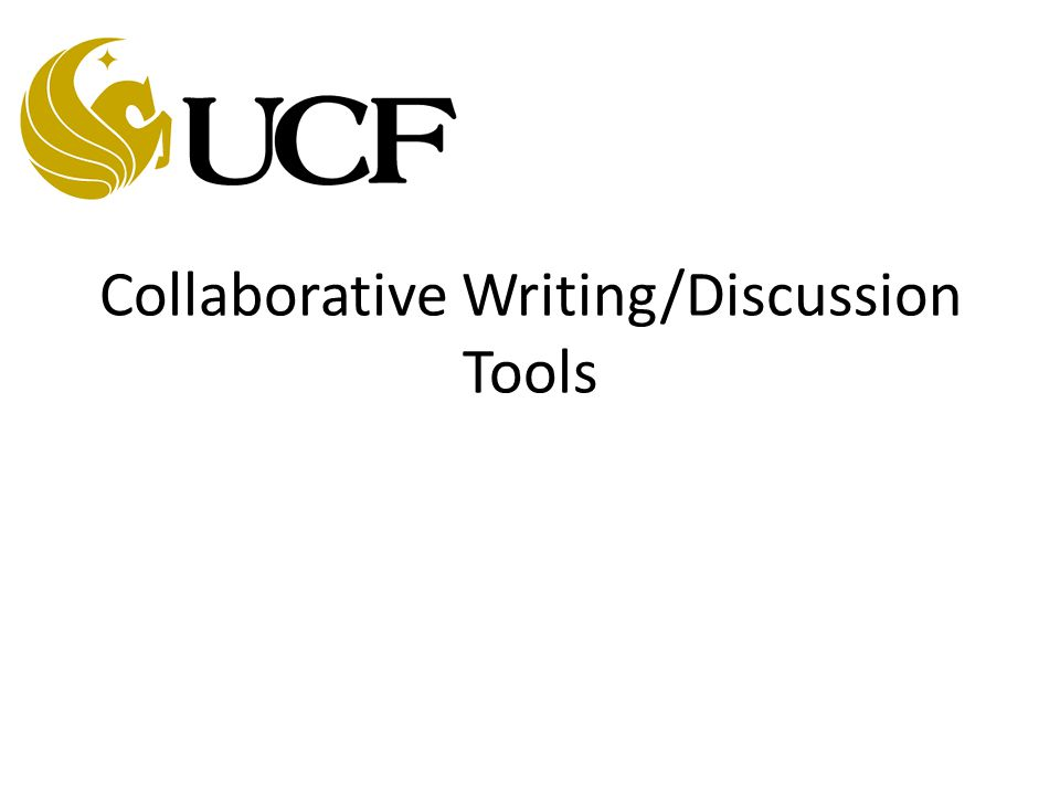 Collaborative Writing/Discussion Tools