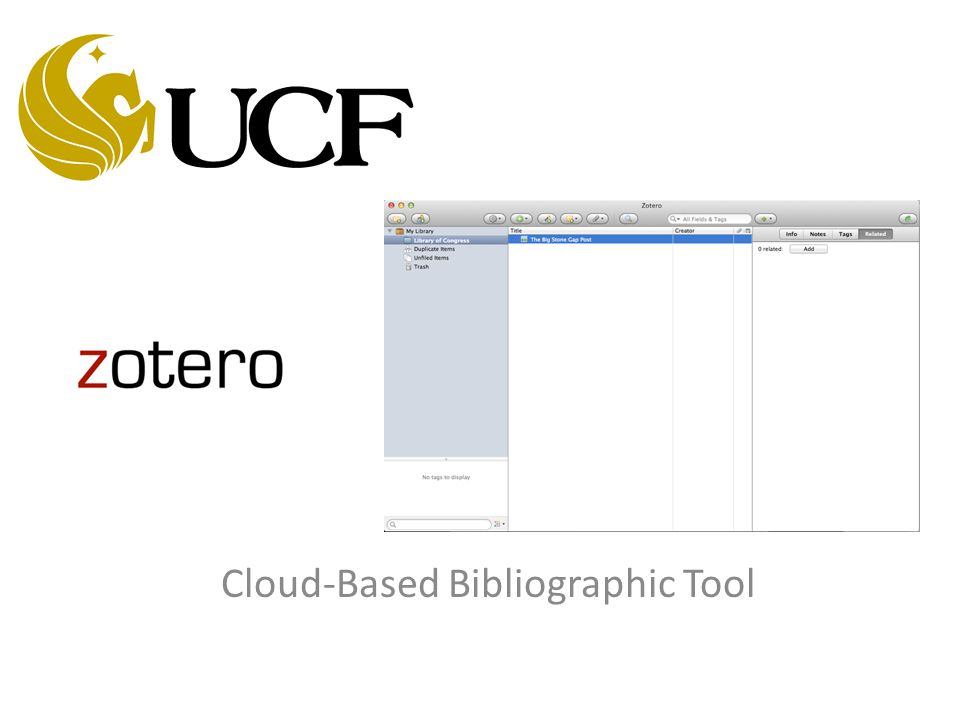 Cloud-Based Bibliographic Tool