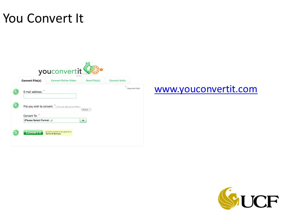 You Convert It www.youconvertit.com