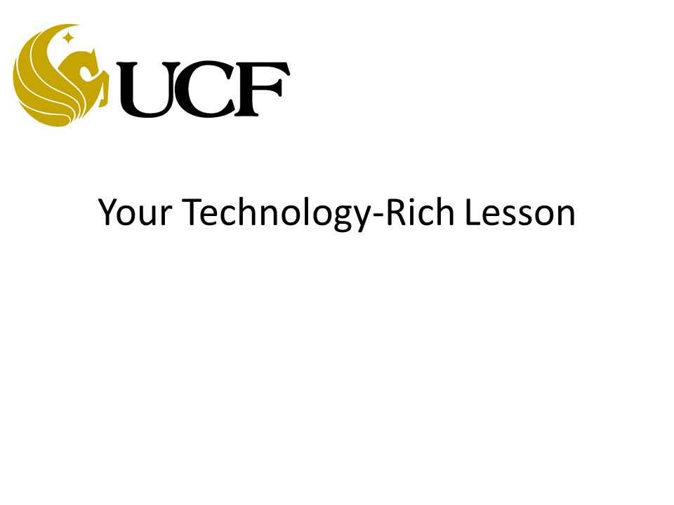 Your Technology-Rich Lesson