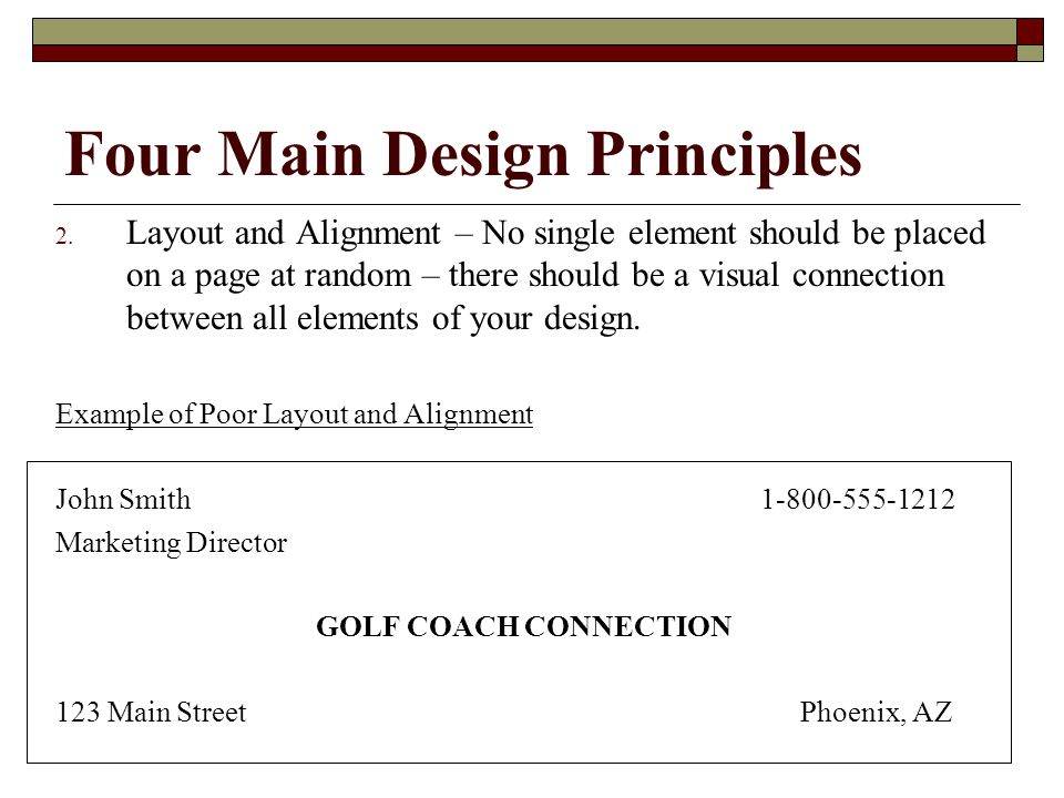 Four Main Design Principles 2.