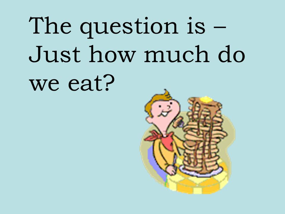 How do we get rid of hunger? By eating