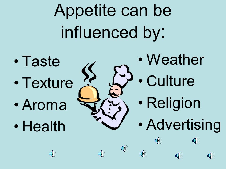 APPETITE is the desire for food