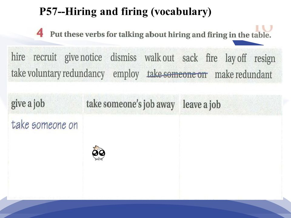 P57--Hiring and firing (vocabulary)