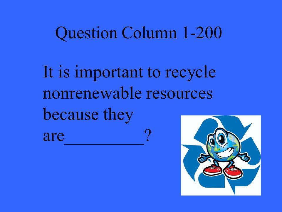 Answer Column 4-200 B
