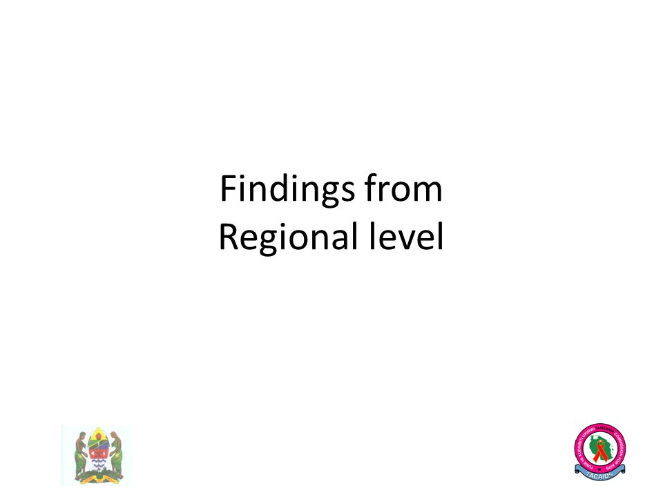 Findings from Regional level