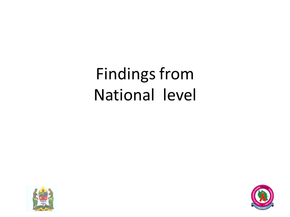 Findings from National level