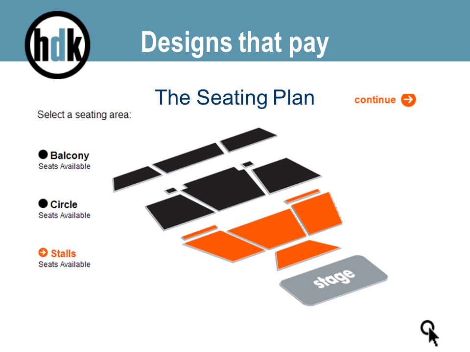 Designs that pay The Seating Plan