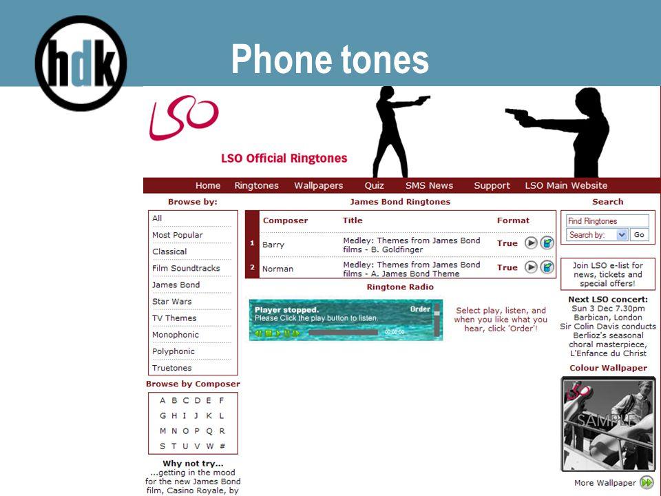 Phone tones