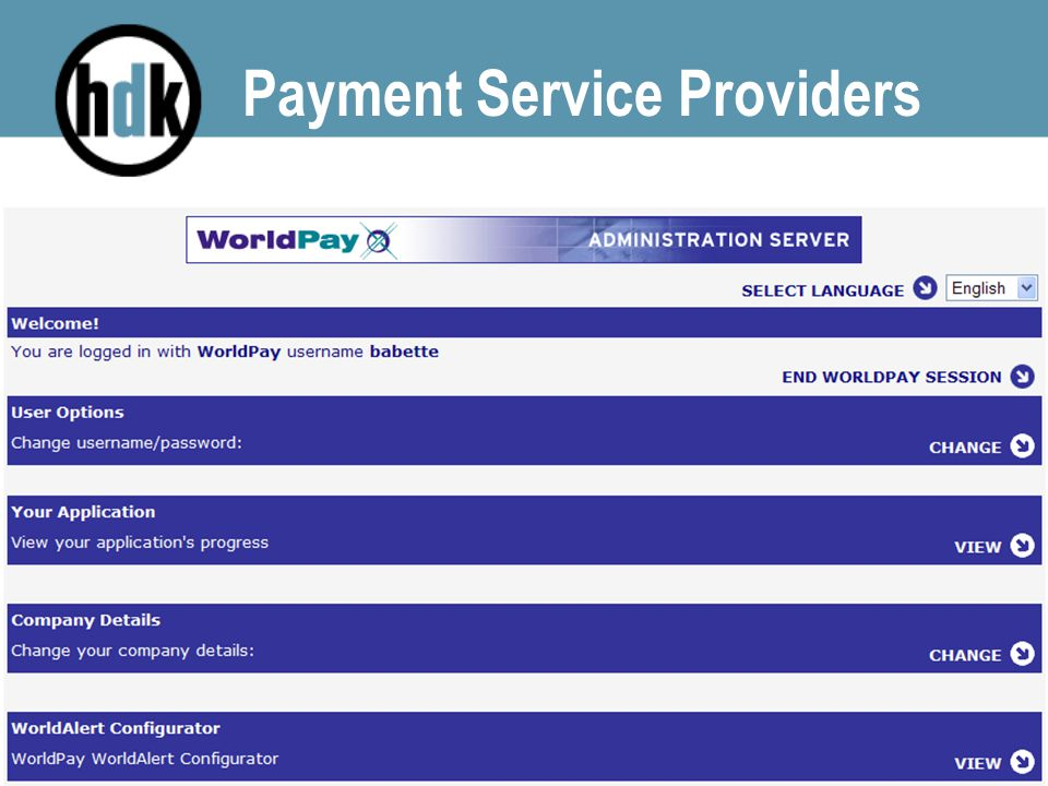 Payment Service Providers