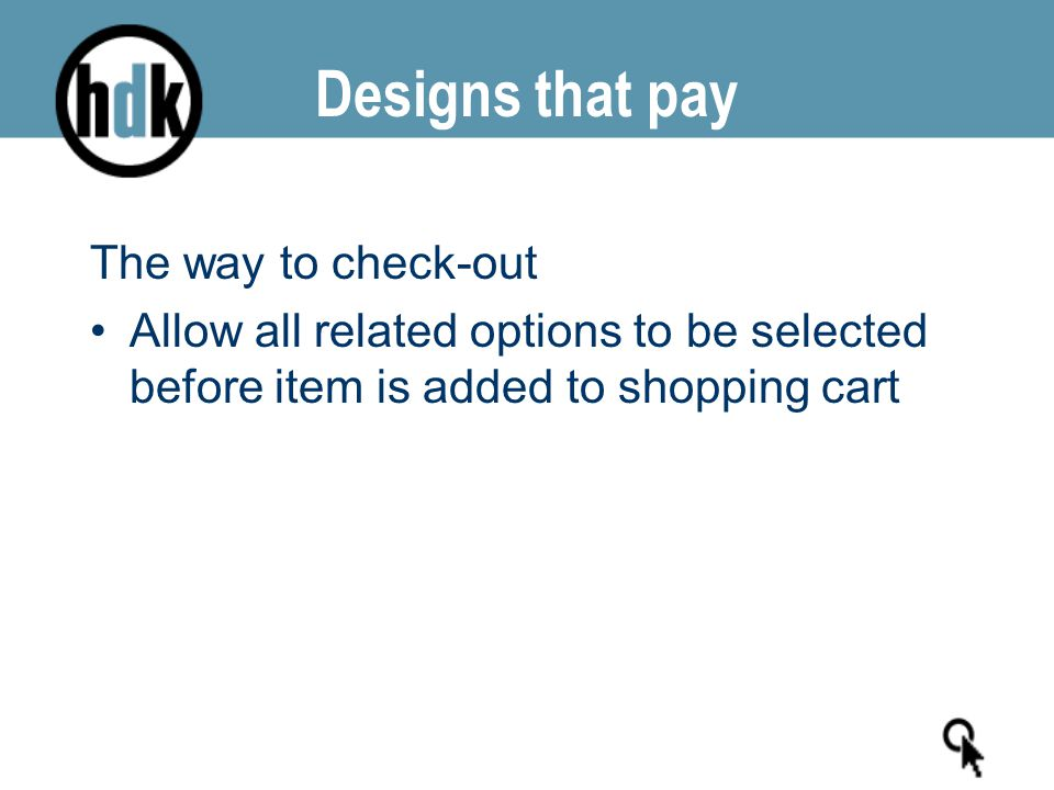 The way to check-out Allow all related options to be selected before item is added to shopping cart