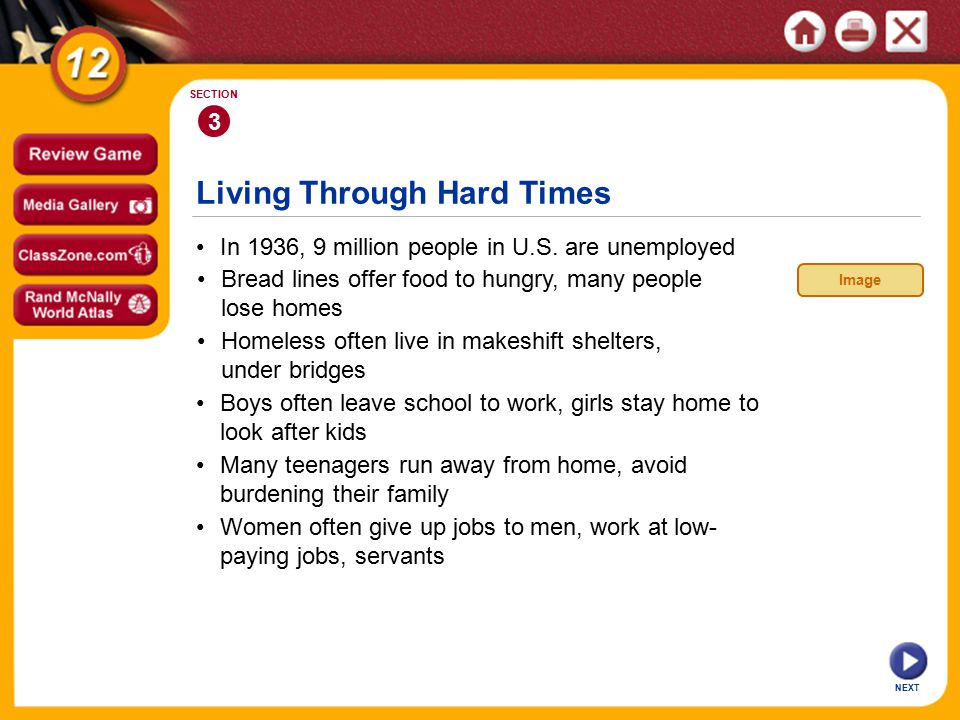 Living Through Hard Times In 1936, 9 million people in U.S.