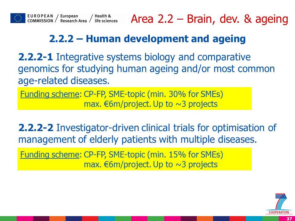 37 Area 2.2 – Brain, dev.
