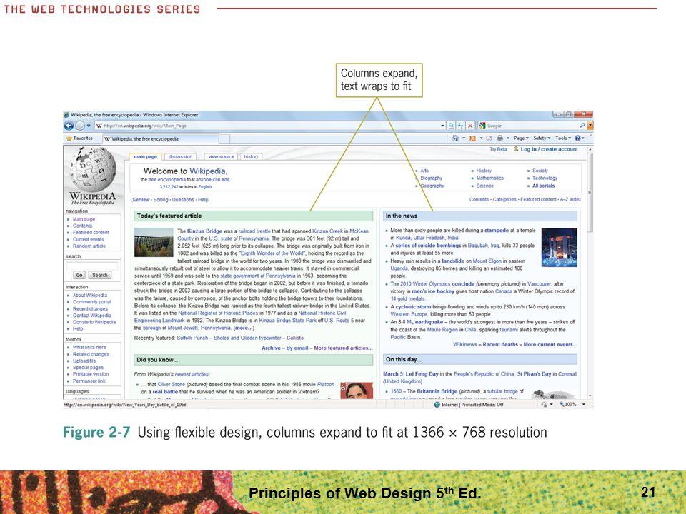 21 Principles of Web Design 5 th Ed.