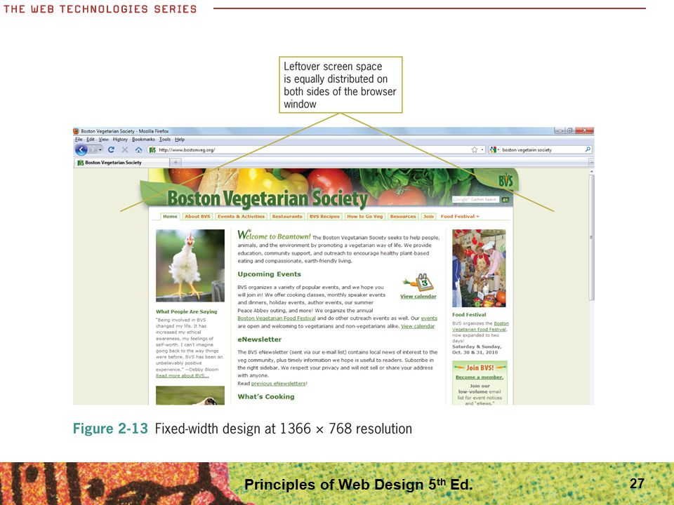 27 Principles of Web Design 5 th Ed.