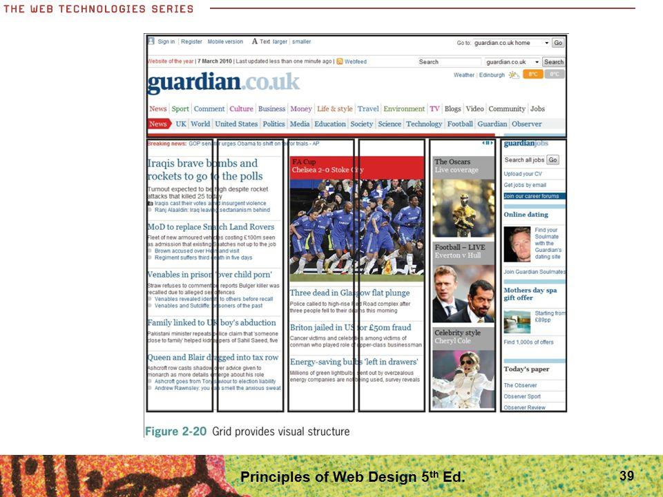 39 Principles of Web Design 5 th Ed.