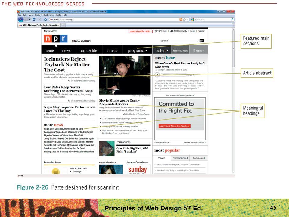 45 Principles of Web Design 5 th Ed.