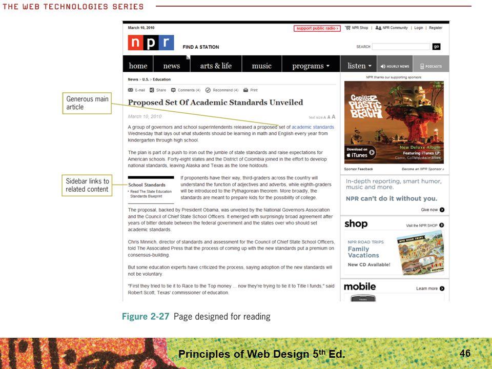 46 Principles of Web Design 5 th Ed.