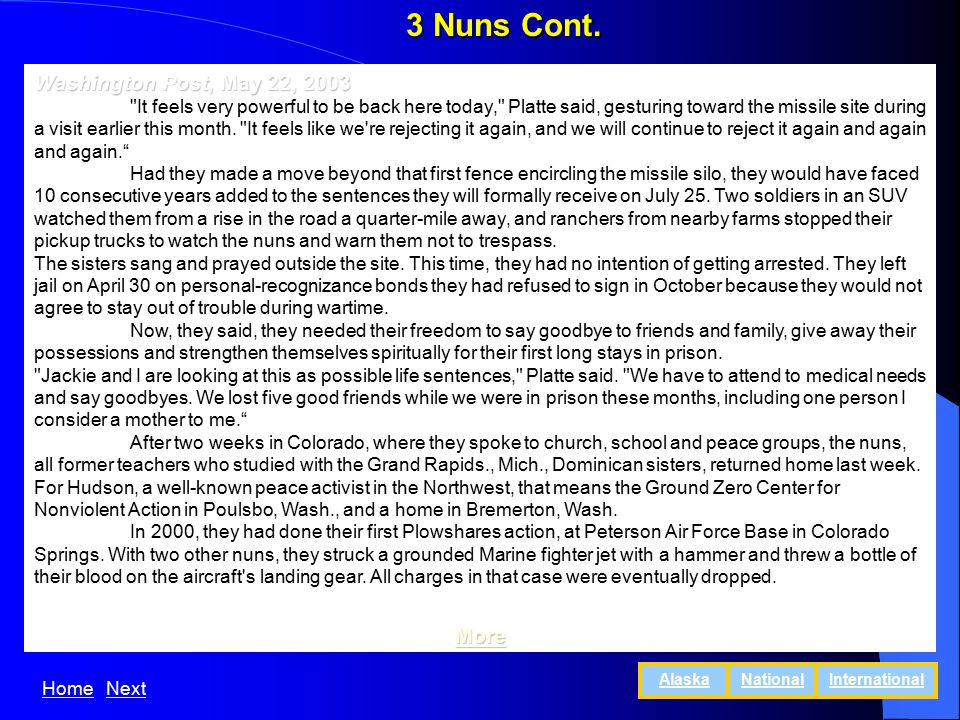 3 Nuns Cont.