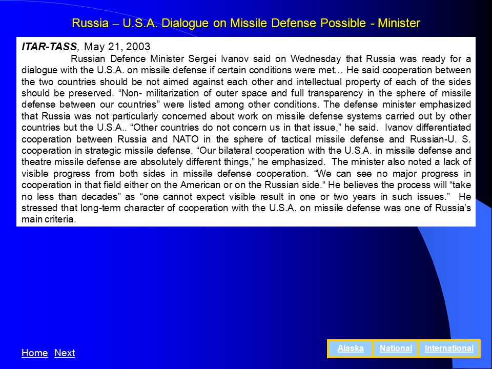 Russia – U.S.A.