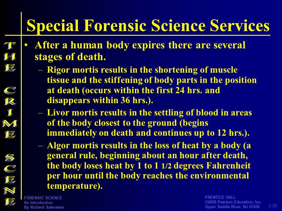 2-30 PRENTICE HALL ©2008 Pearson Education, Inc. Upper Saddle River, NJ 07458 FORENSIC SCIENCE An Introduction By Richard Saferstein Special Forensic