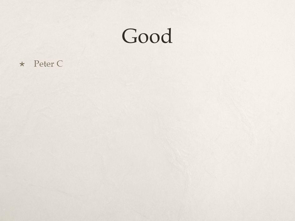 Good  Peter C