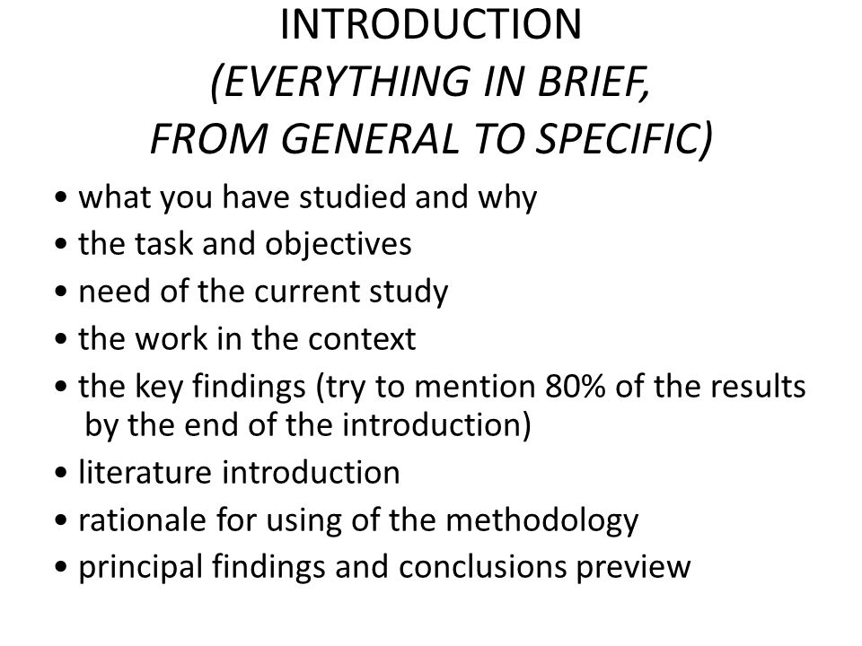 METHODS details for replication or reference non-essential (but required) details in Appendix or Supplementary Information why this method + statistical methods if necessary