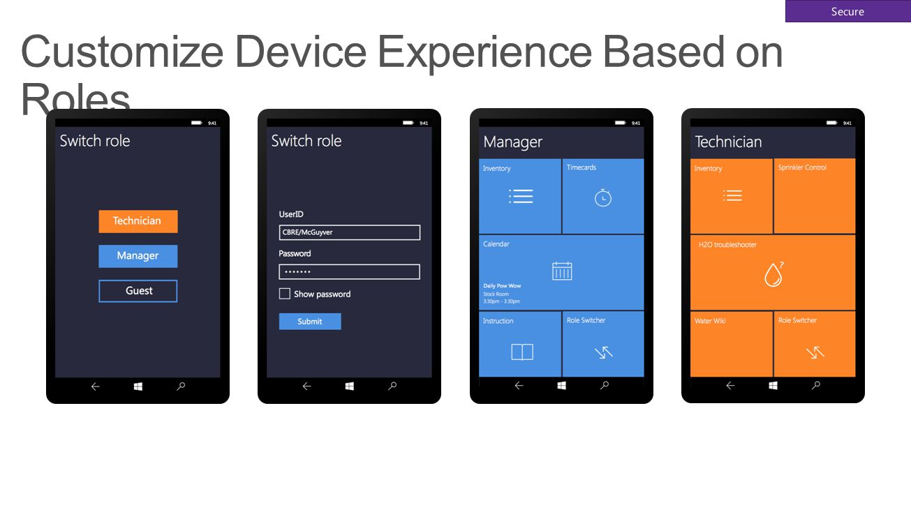Customize Device Experience Based on Roles