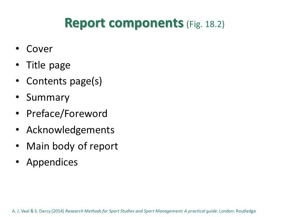 Report components Report components (Fig.