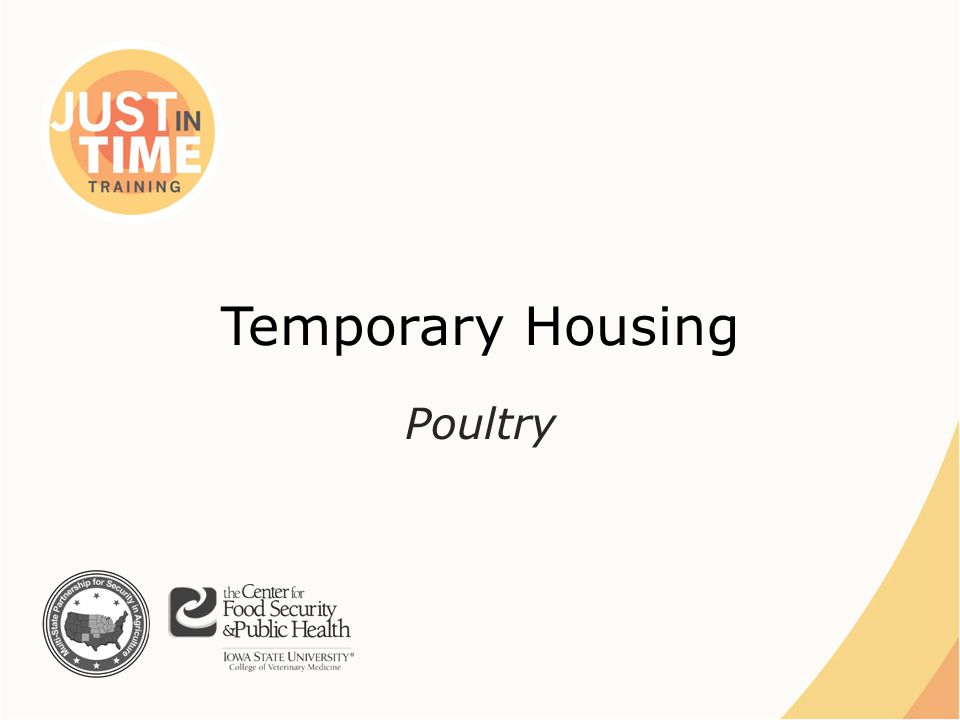 Temporary Housing Poultry