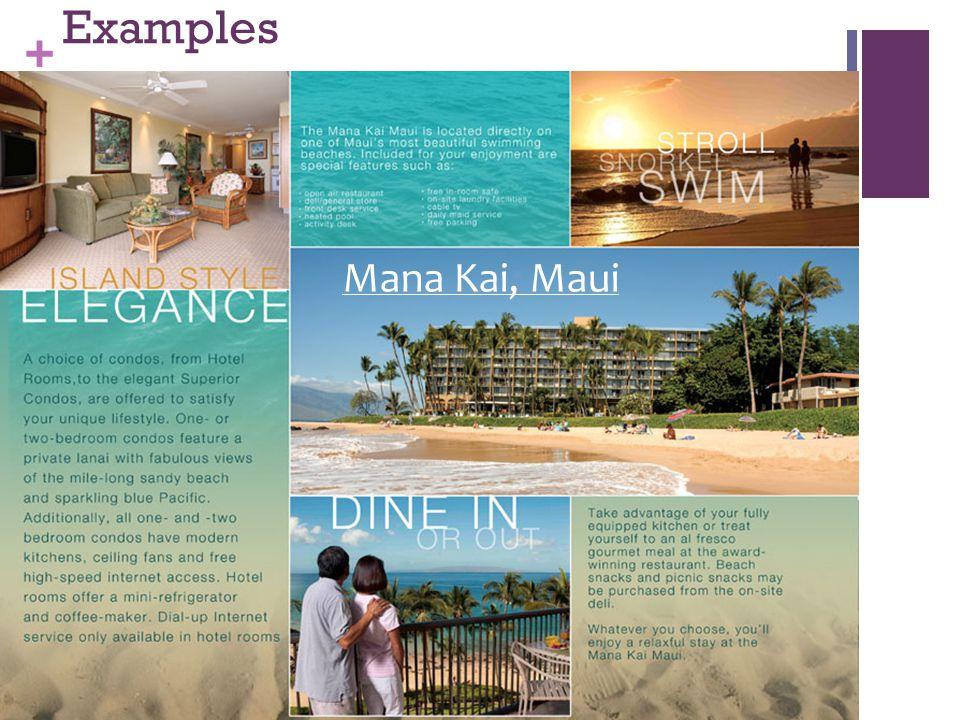 + Examples Mana Kai, Maui