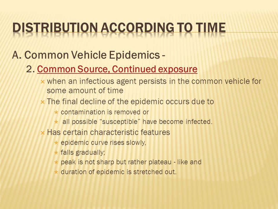 A.Common Vehicle Epidemics - 2.