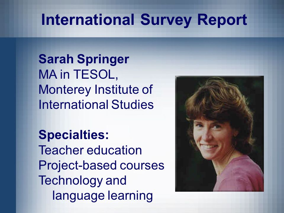 Survey of Practices and Attitudes Ideas about how to get started on reflective teaching Experience of and beliefs about program support for reflective teaching