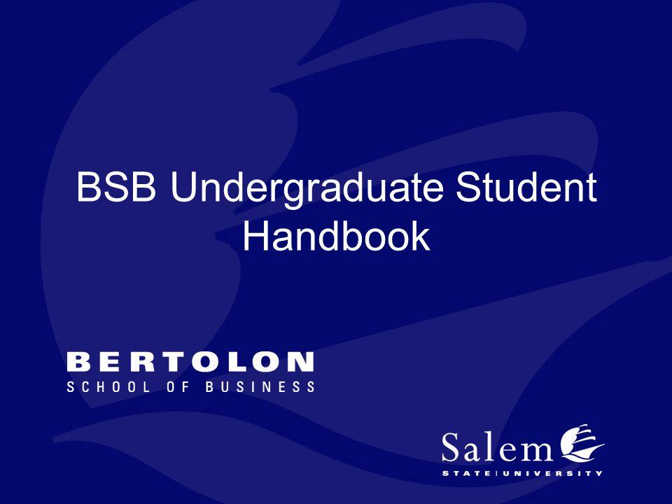 BSB Undergraduate Student Handbook