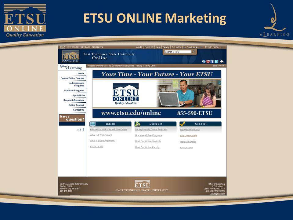 ETSU ONLINE Marketing