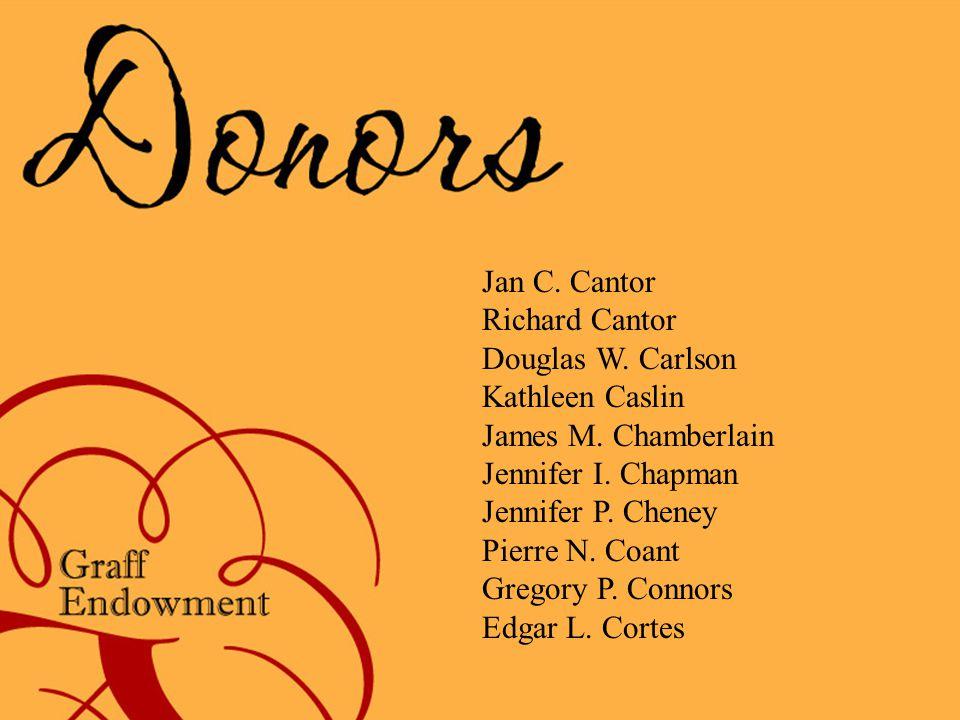 Jan C. Cantor Richard Cantor Douglas W. Carlson Kathleen Caslin James M.