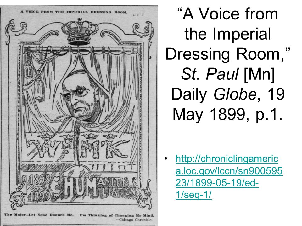 A Voice from the Imperial Dressing Room, St.Paul [Mn] Daily Globe, 19 May 1899, p.1.