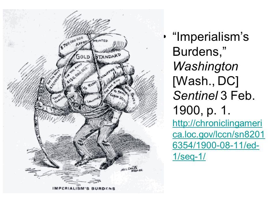 Imperialism's Burdens, Washington [Wash., DC] Sentinel 3 Feb.