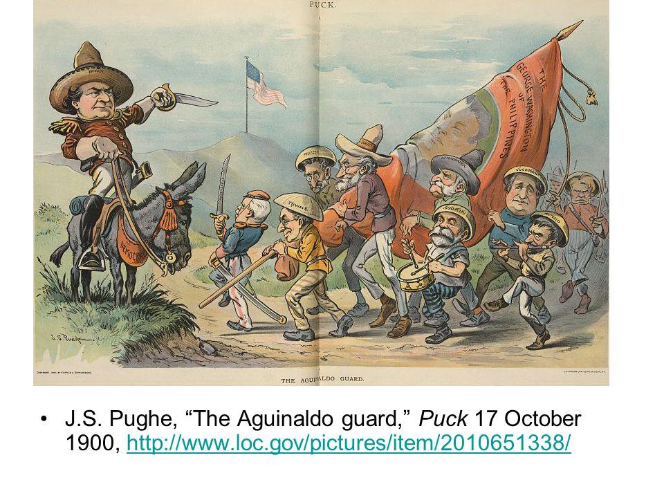 "J.S. Pughe, ""The Aguinaldo guard,"" Puck 17 October 1900, http://www.loc.gov/pictures/item/2010651338/http://www.loc.gov/pictures/item/2010651338/"