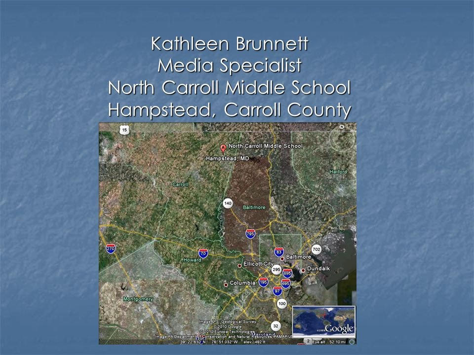 Kathleen was the first CCPS Media Specialist to create a blog for middle school students.