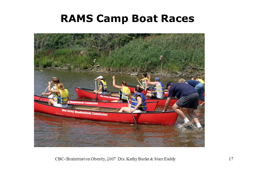 CBC- Braintrust on Obesity, 2007 Drs. Kathy Burke & Starr Eaddy17 RAMS Camp Boat Races
