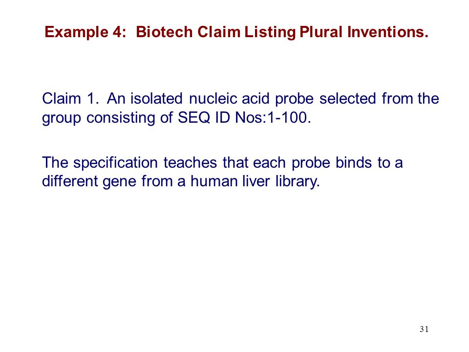 Claim 1.An isolated nucleic acid probe selected from the group consisting of SEQ ID Nos:1-100.