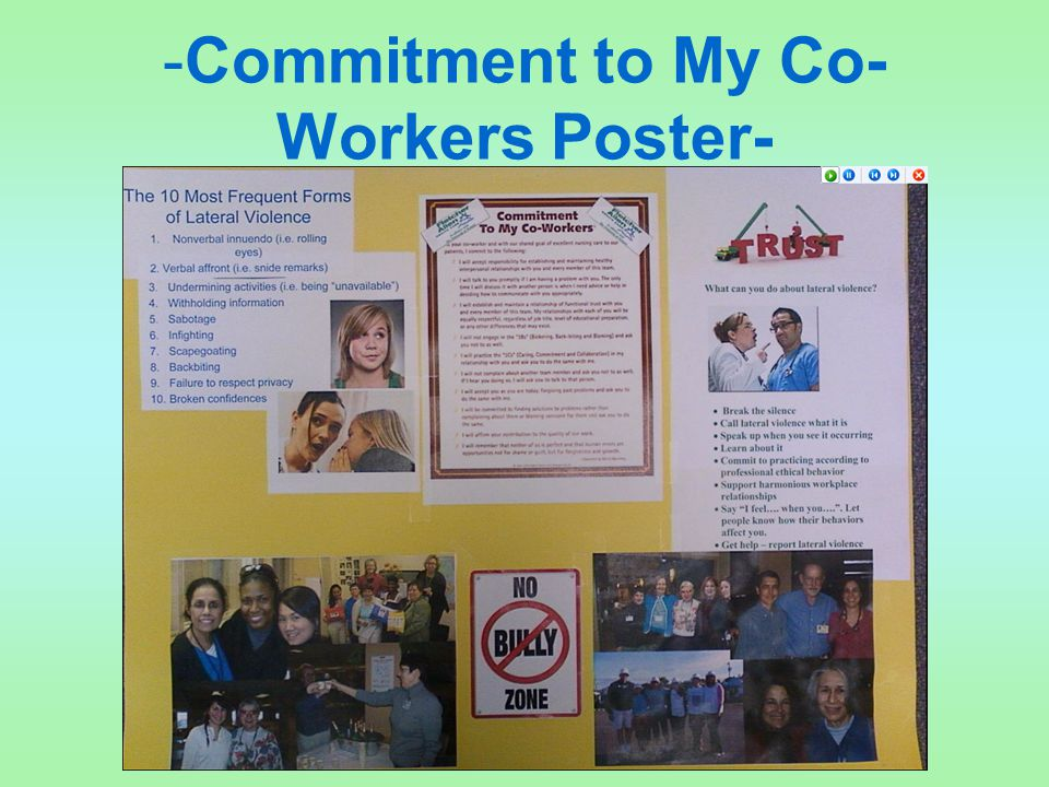 -Commitment to My Co- Workers Poster-