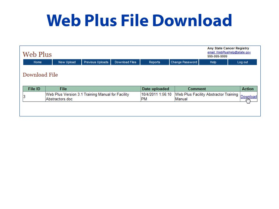 Web Plus File Download