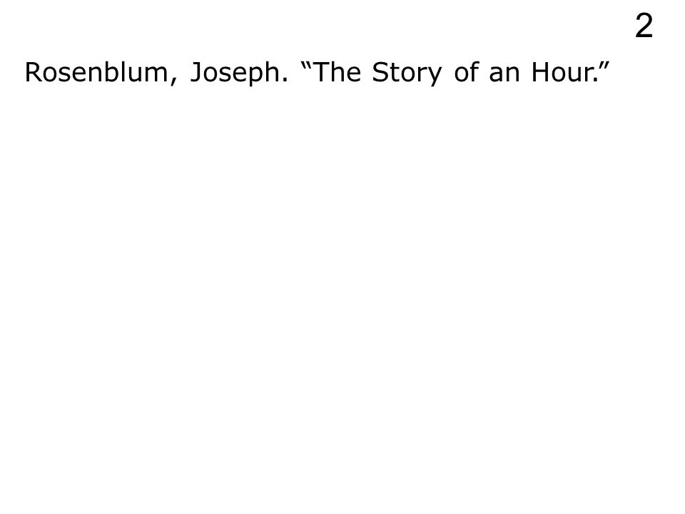 Rosenblum, Joseph. 2