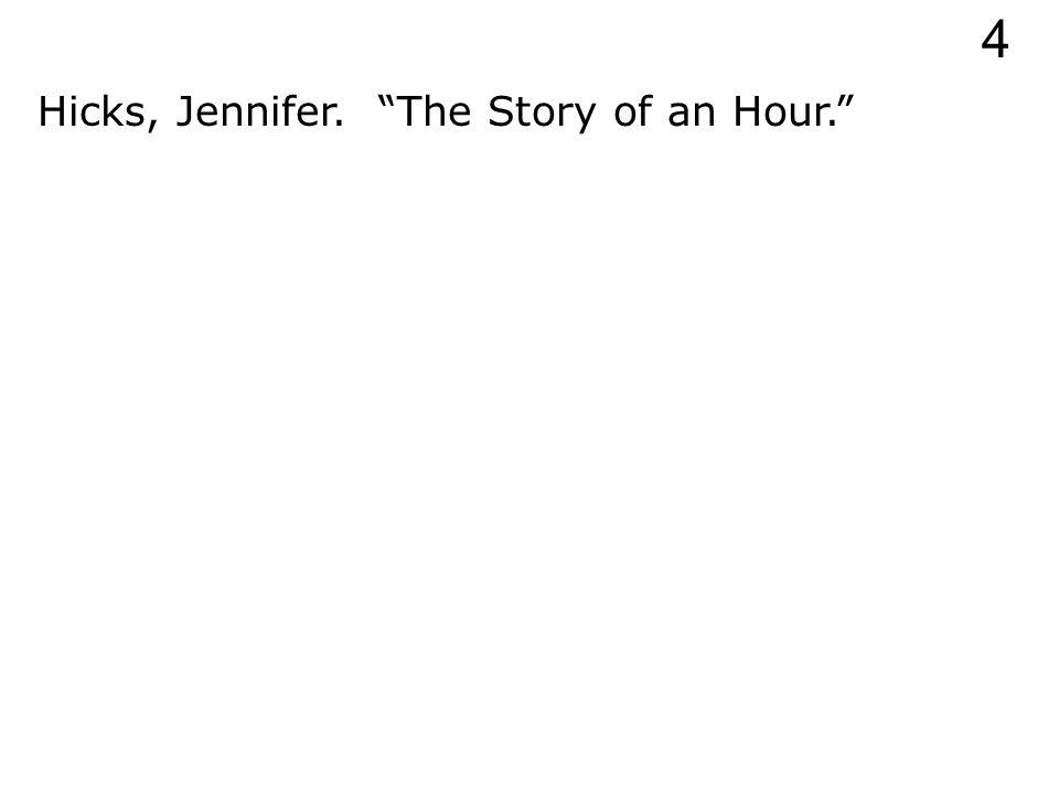 Hicks, Jennifer. 4