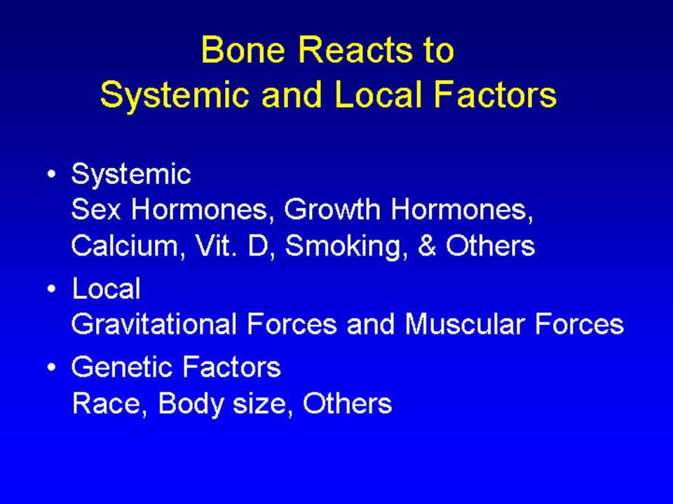 Systemic Sex Hormones, Growth Hormones, Calcium, Vit.