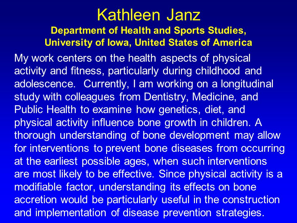 Natural History of Bone Childhood New Bone Added Faster than Old Bone Removed Peak Bone Mass Bone Resorption Exceeds Bone Formation Rapid Loss Menopause 3-6 yrs From: Kemper, Pediatric Exercise Science 2000;12:198-216.