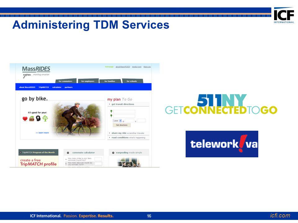 icfi.com 16 Administering TDM Services